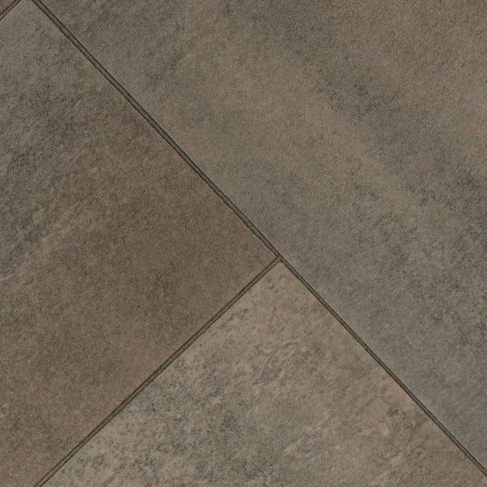 Relativ BODENMEISTER Vinylboden »Monero«, diagonal braun grau, Breite 200 GH35