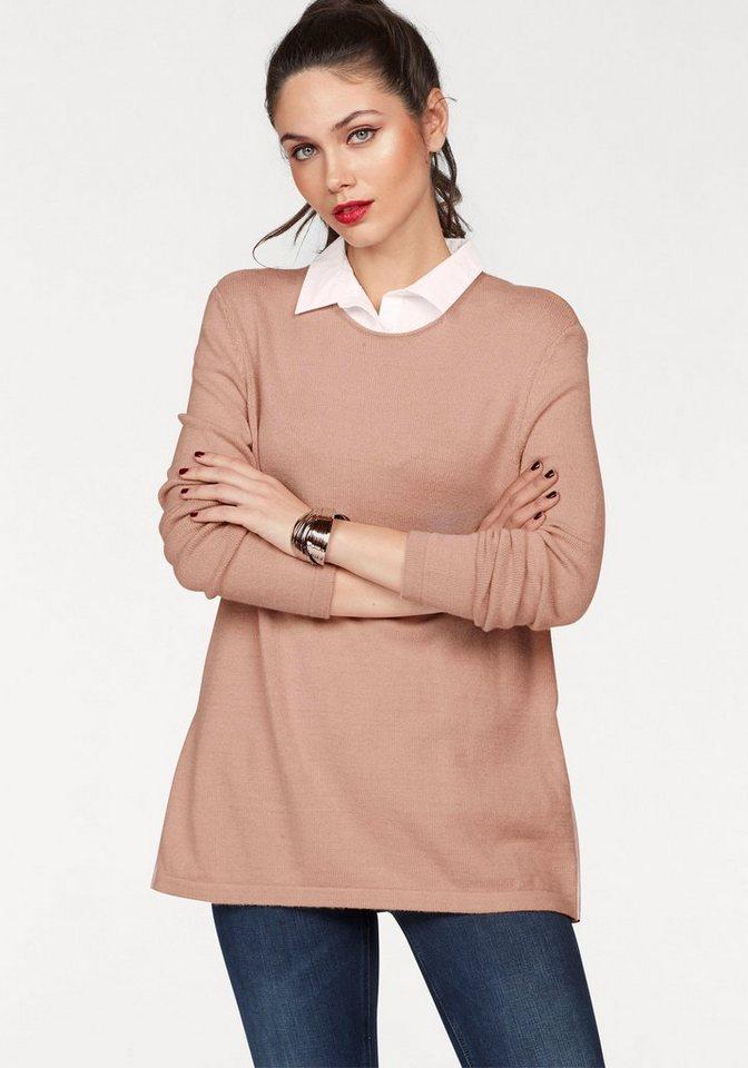Damen Y.A.S  2-in-1-Pullover SARAH rosa | 05713615678476