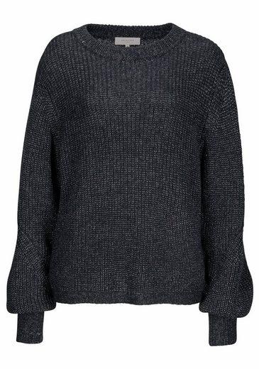 SELECTED FEMME Strickpullover DUSA, mit Wolle und Glanzfäden