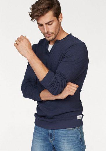 Tom Tailor Langarmshirt, Slub-yarn