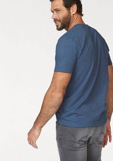 Arizona Henleyshirt (Packung, 2 tlg), T-Shirts mit Knopfleiste