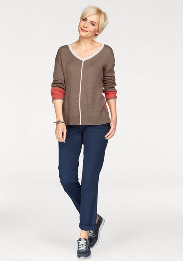 Boysen's V-Ausschnitt-Pullover, im modischen Colorblocking