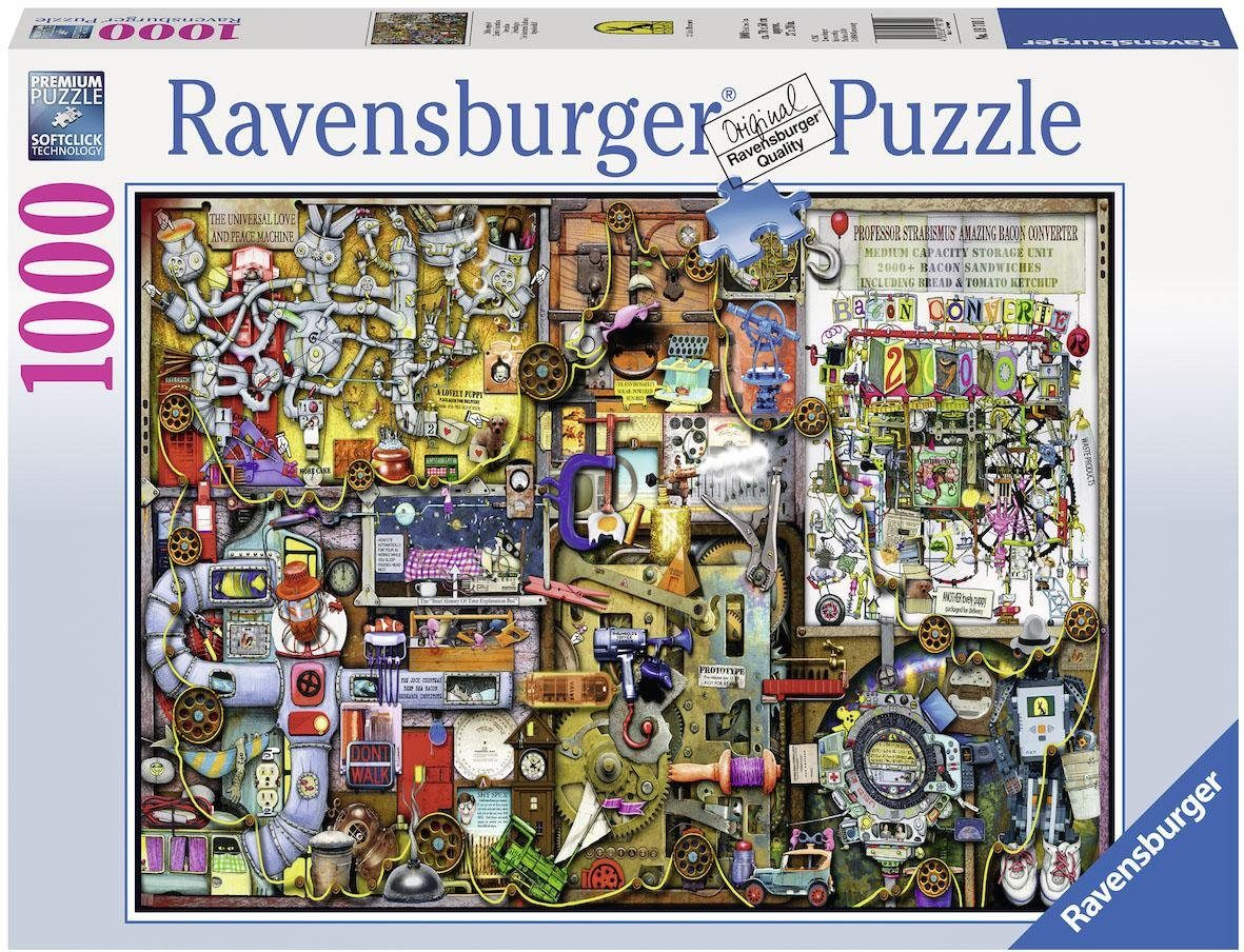 Ravensburger Puzzle, 1000 Teile, »Colin Thompson: Erfindergeist«