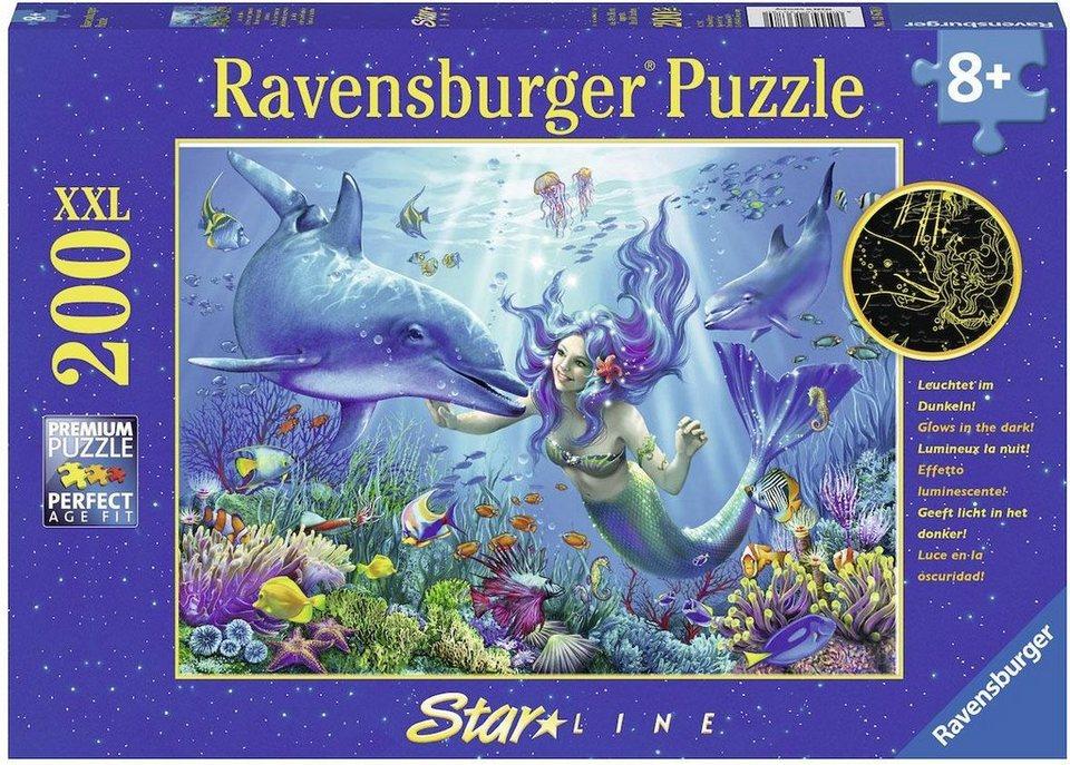 ravensburger leuchtendes unterwasserparadies xxl puzzle. Black Bedroom Furniture Sets. Home Design Ideas