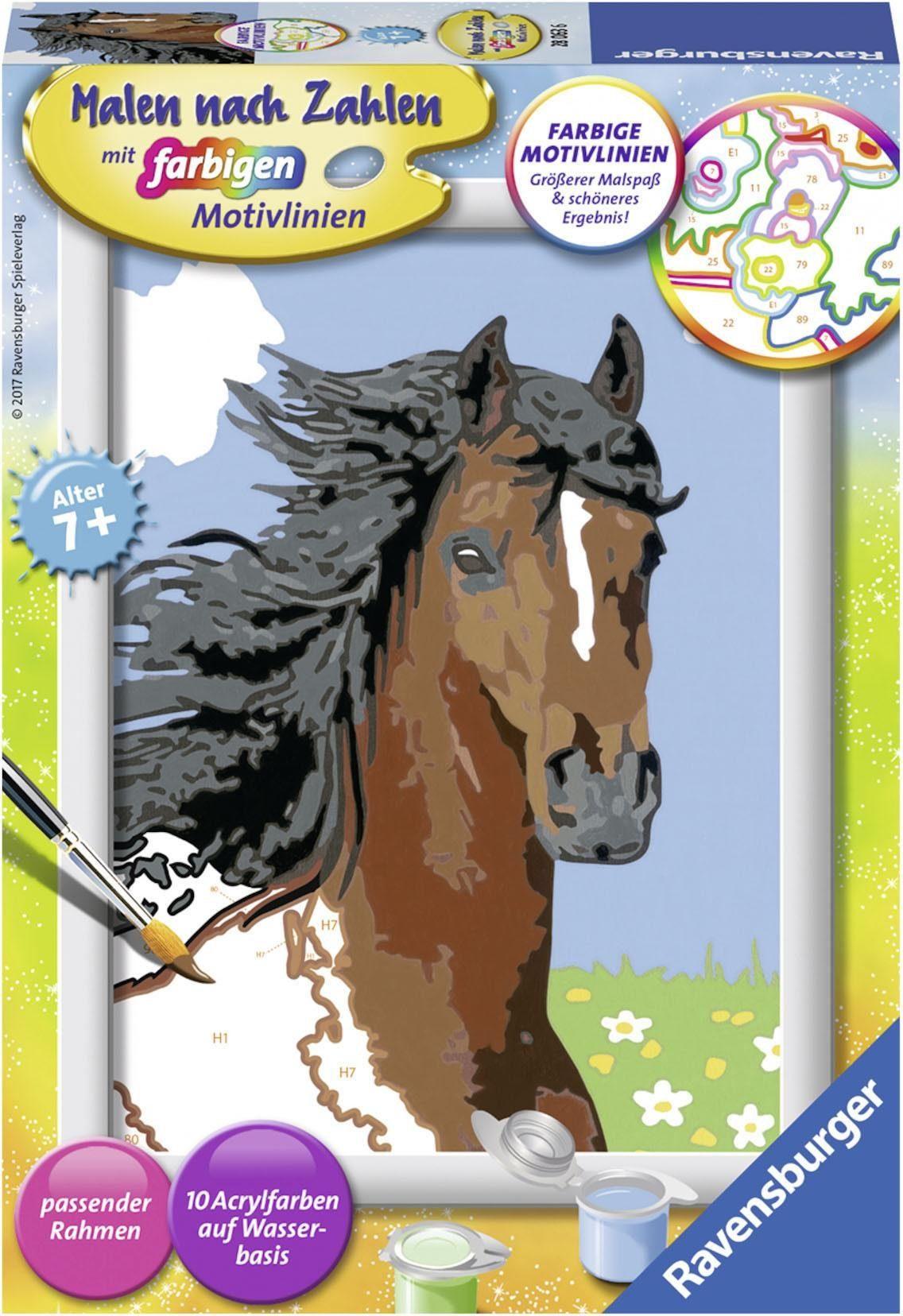 Ravensburger Malen nach Zahlen, »Pferdeportrait«