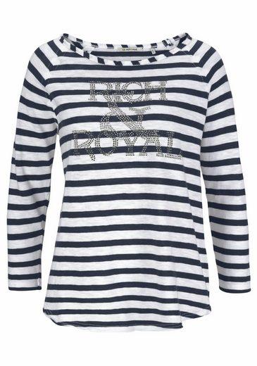 Rich & Royal Rundhalsshirt, mit Markenschriftzug in martitimem Look