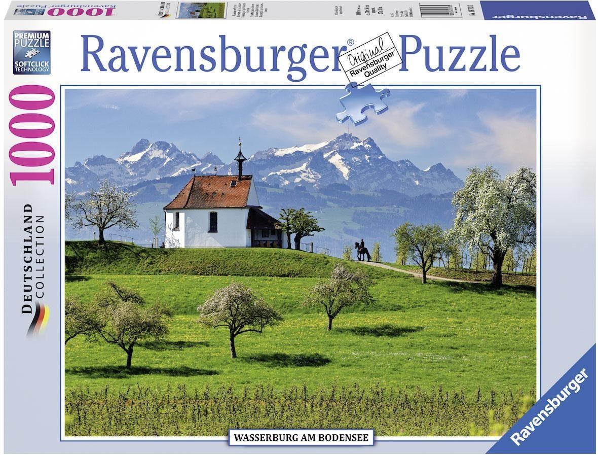 Ravensburger Puzzle, 1000 Teile, »Wasserburg am Bodensee«