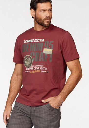 Mans World T-shirt, With Multicolored Print