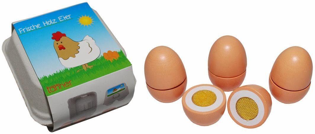 Tanner Spiellebensmittel aus Holz mit Kartonverpackung, »Eier«