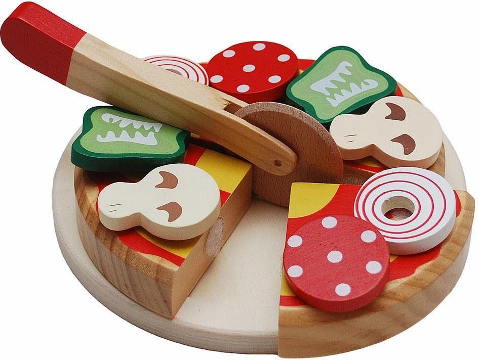 Tanner Spiellebensmittel aus Holz, »Pizza zum Schneiden«