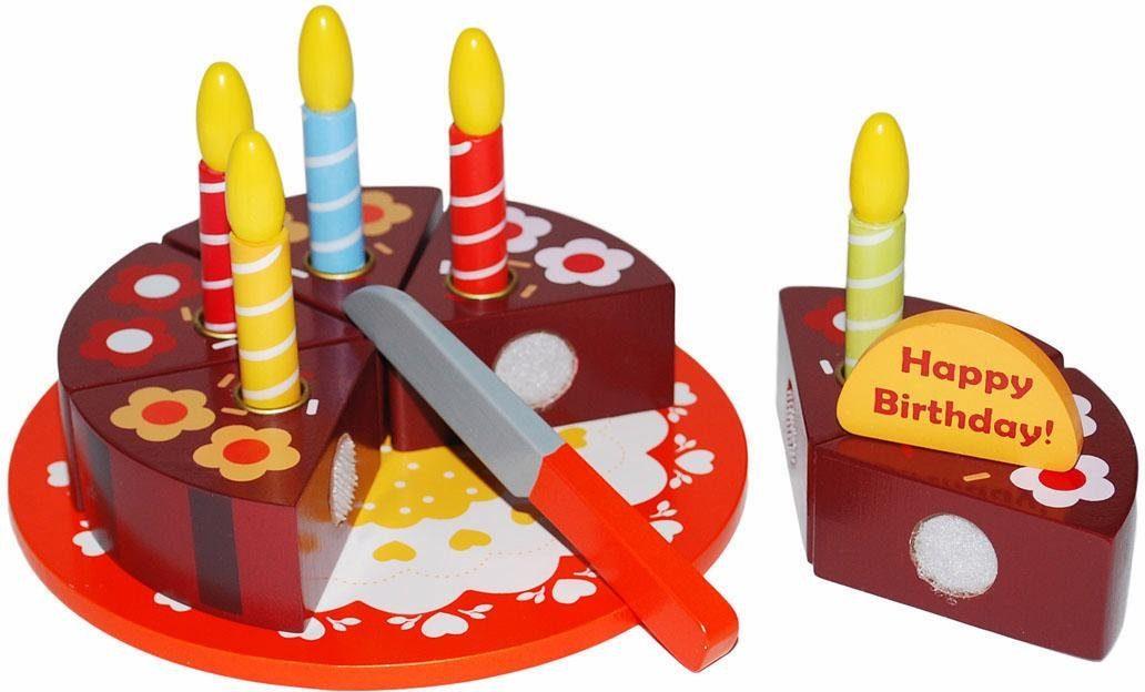 Tanner Spiellebensmittel aus Holz, »Geburtstagstorte zum Schneiden«