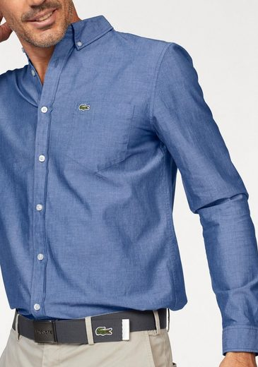Lacoste Langarmhemd, aus Chambray