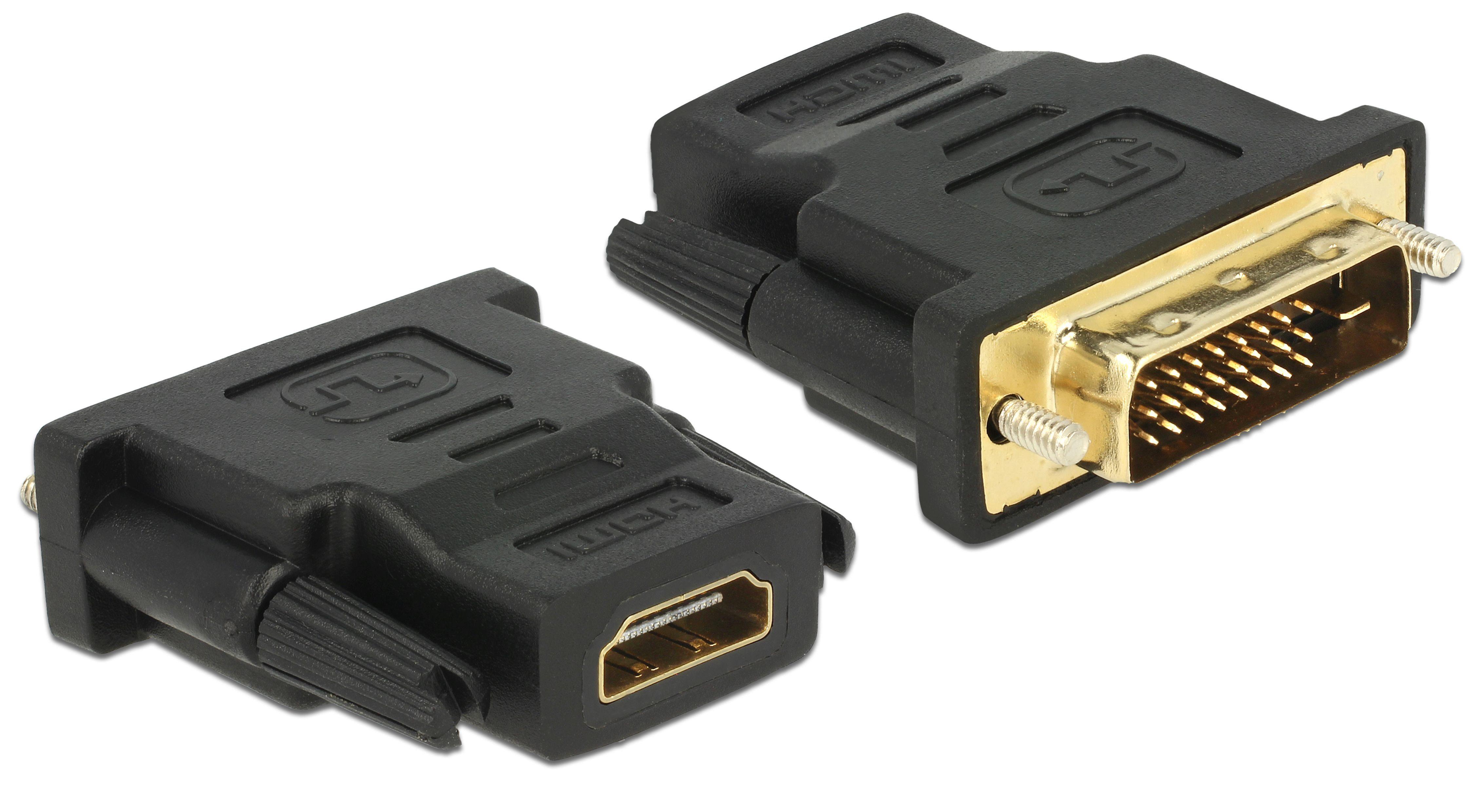 DELOCK Adapter »DVI 24+1 Pin Stecker auf HDMI Buchse«
