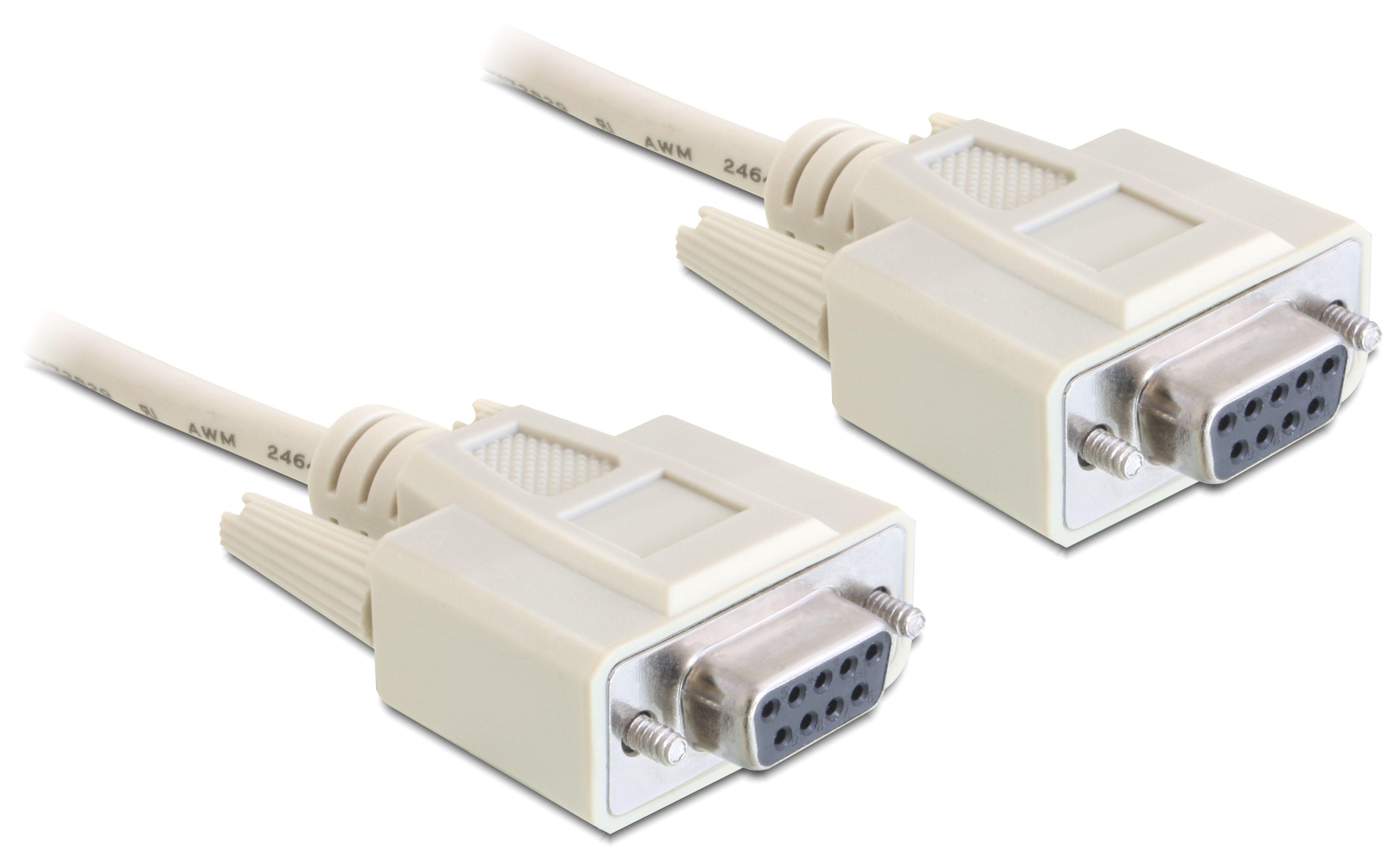 DELOCK Kabel 1,8m »Seriell Nullmodem 9 Pin Buchse mit Buchse«