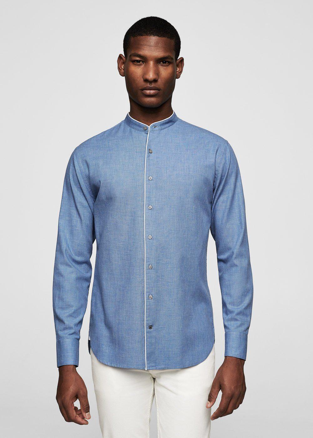 MANGO MAN Regular Fit-Hemd mit Mao-Kragen jetztbilligerkaufen