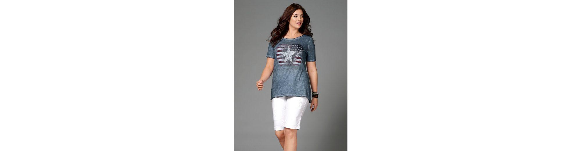 Angel of Style by Happy Size Shirt oil wash mit US-Print und Glitzersteinen Günstig Kaufen 100% Authentisch Freies Verschiffen Extrem hERutN