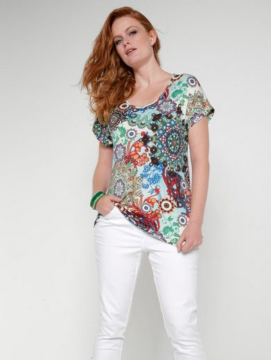 Sara Lindholm by Happy Size Jersey-Shirt mit Allover-Print