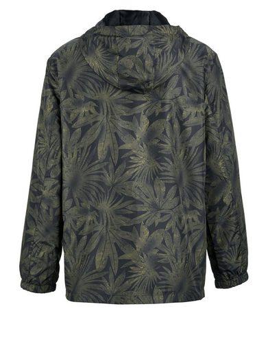 Men Plus Jacke mit Blätter-Print