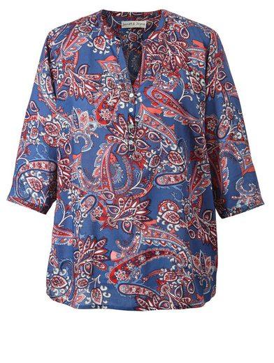 Janet Und Joyce Par Happy Taille Bluse Mit Paisley-print