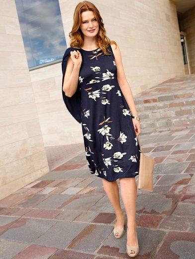 Sara Lindholm by Happy Size Jersey-Kleid mit Blumen-Print
