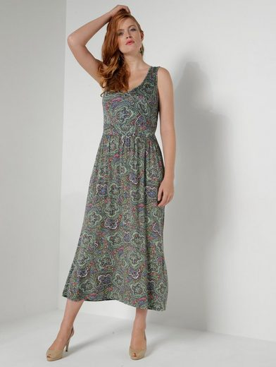 Sara Lindholm Par La Robe Maxi De Taille Heureuse Avec Impression Intégrale