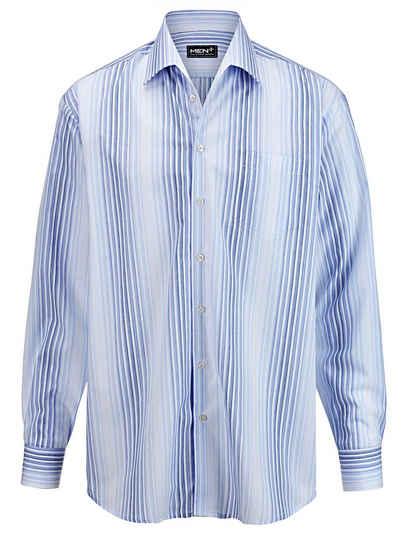 Men Plus by Happy Size Hemd gestreift mit Variokragen Sale Angebote