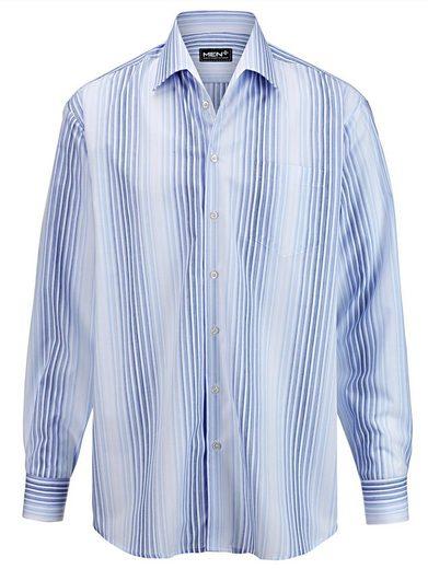 Men Plus by Happy Size Hemd gestreift mit Variokragen