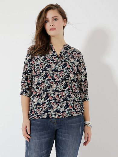 Janet And Joyce By Happy Size Slip Blouse With Floral-print