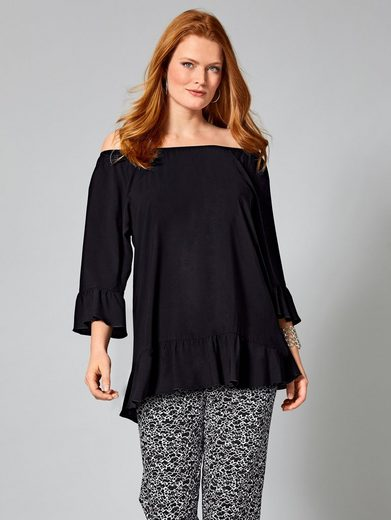 Sara Lindholm by Happy Size Bluse mit Volants