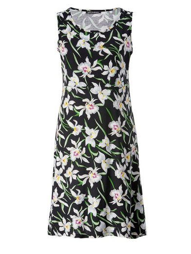 Sara Lindholm By Happy Size Dress With Floral-print