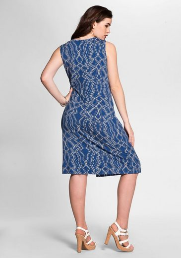 sheego Style Jerseykleid, Wickeloptik