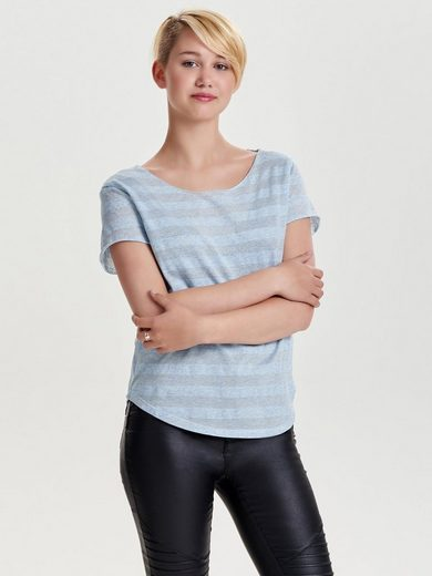 Jacqueline De Yong Striped Bodice With Short Sleeves