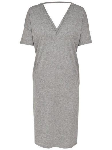 Jacqueline de Yong Detailreiches Kleid mit kurzen Ärmeln