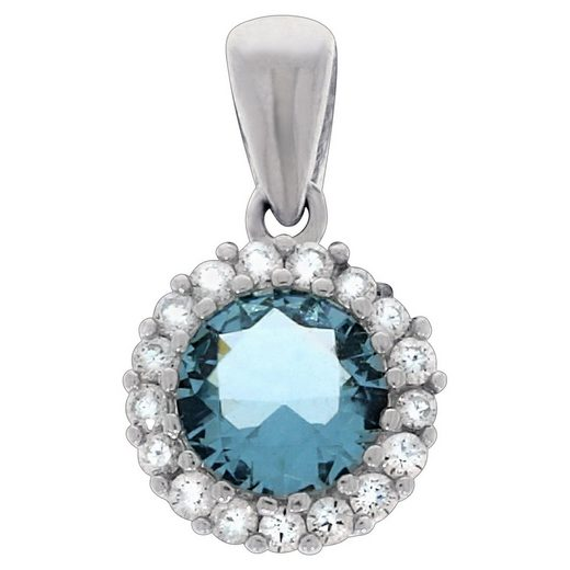 Vivance Anhänger »925/- Sterling Silber Kristall«