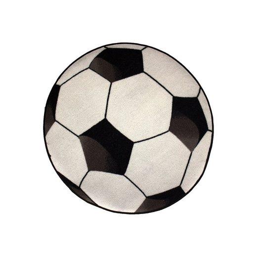 Kinderteppich Fußball, weiß, 80 cm