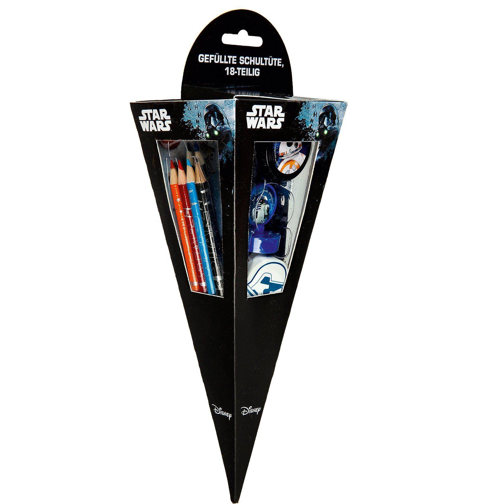 UNDERCOVER Mal- und Spaß-Schultüte Star Wars, 18-tlg.
