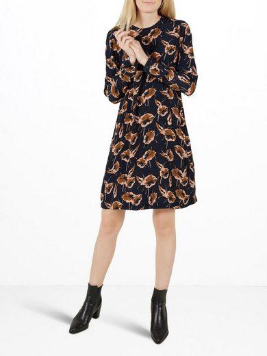 Y.A.S Blumenbedrucktes Kleid mit langen Ärmeln