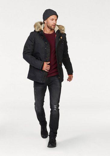 Blend Parka, Detachable Fur Imitation On The Hood