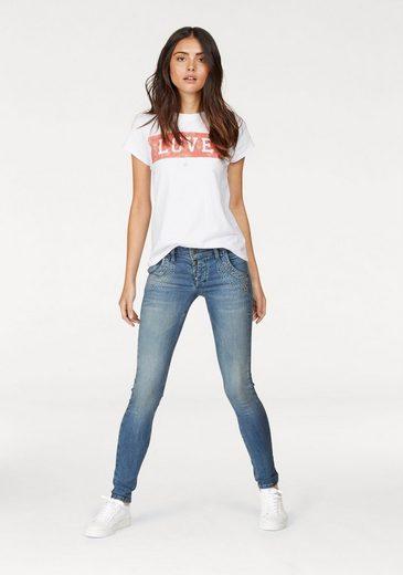 Glücksstern Stretch-Jeans Petra, mit tollen Glitzersteinen