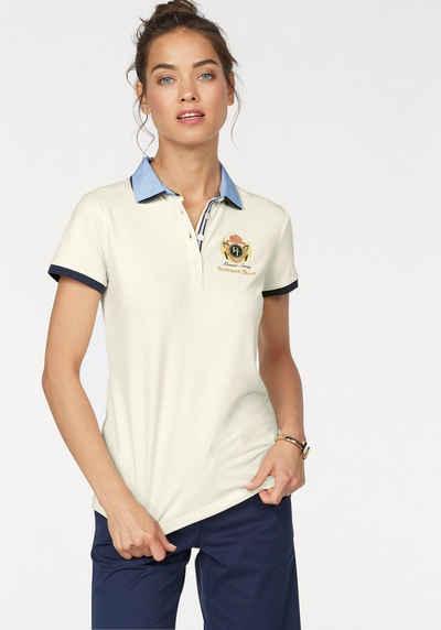 Tom Tailor Polo Team Poloshirt, mit doppeltem, uni und gestreiftem Kragen
