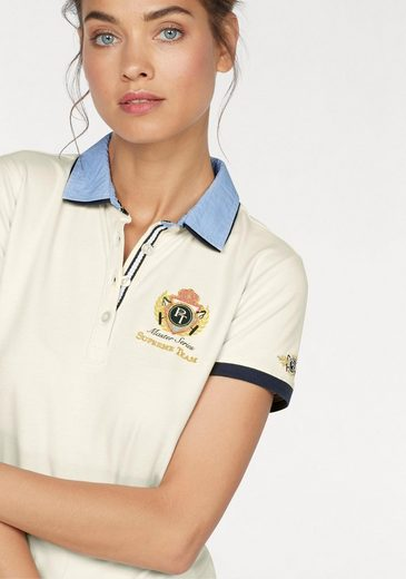 Tom Tailor Polo Team Polo Shirt, With Double, College And Striped Collar