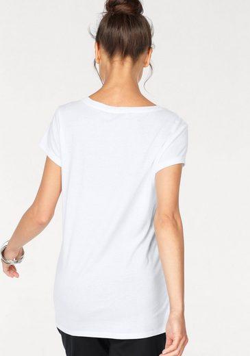 AJC T-Shirt, mit Pailletten-Applikation vorne