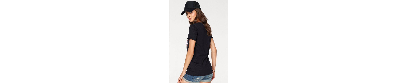 Glitzer AJC AJC Shirt vorne AJC stylischem Glitzer Print T Print vorne T Shirt T Shirt stylischem mit mit zqwzr8