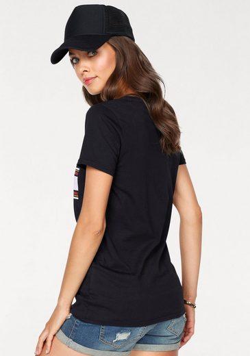 AJC T-Shirt, mit stylischem Glitzer-Print vorne
