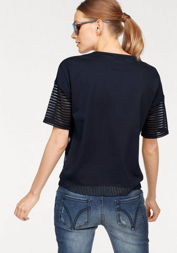 Sportalm Kitzbühel Crew-neck Shirt In Jeans