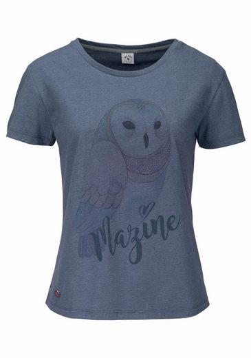 Mazine T-shirt Basic T, With Large Owl-print