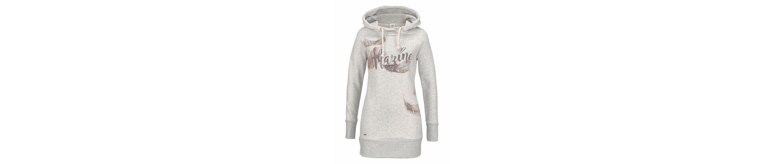 MAZINE Longsweatshirt YOWAH, mit trendigem Feder-Print