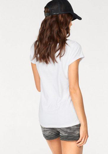 AJC T-Shirt, mit großem Druck und kontrastfarbener Ausschnittkante
