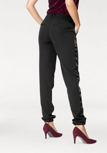 Laura Scott Suit Trousers With Satin Ribbon On The Side
