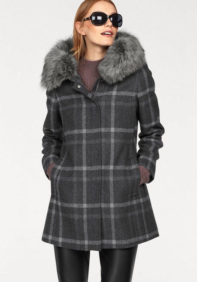 Mantel tailliert kapuze